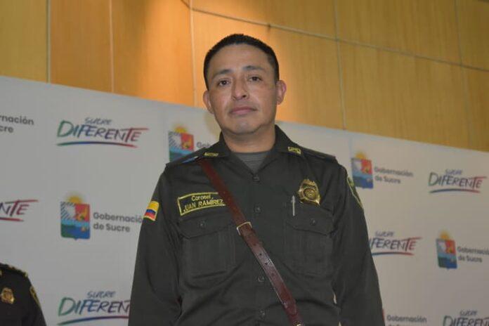 Terminó la comandancia del coronel Juan Carlos Ramírez en la Policía de Sucre - Noticias de Colombia